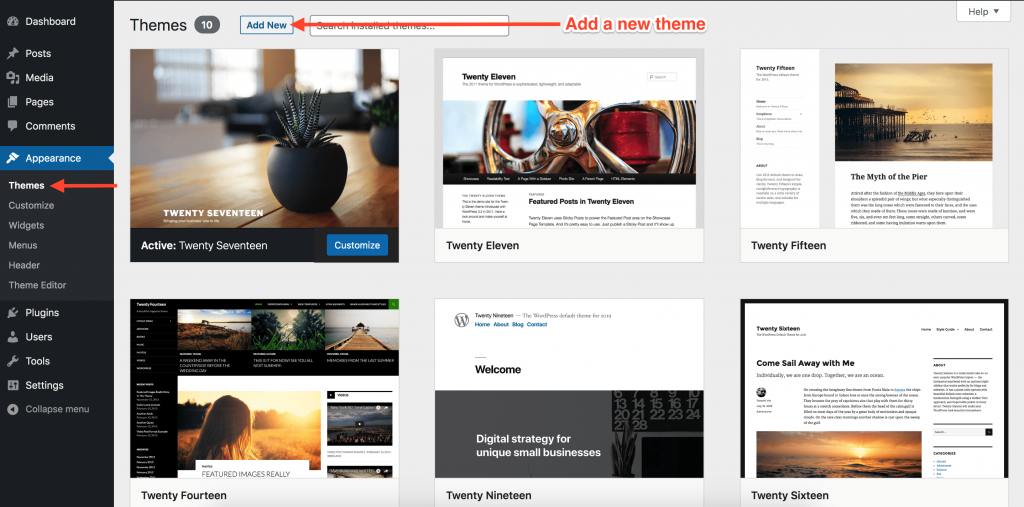 Select WordPress Website Theme