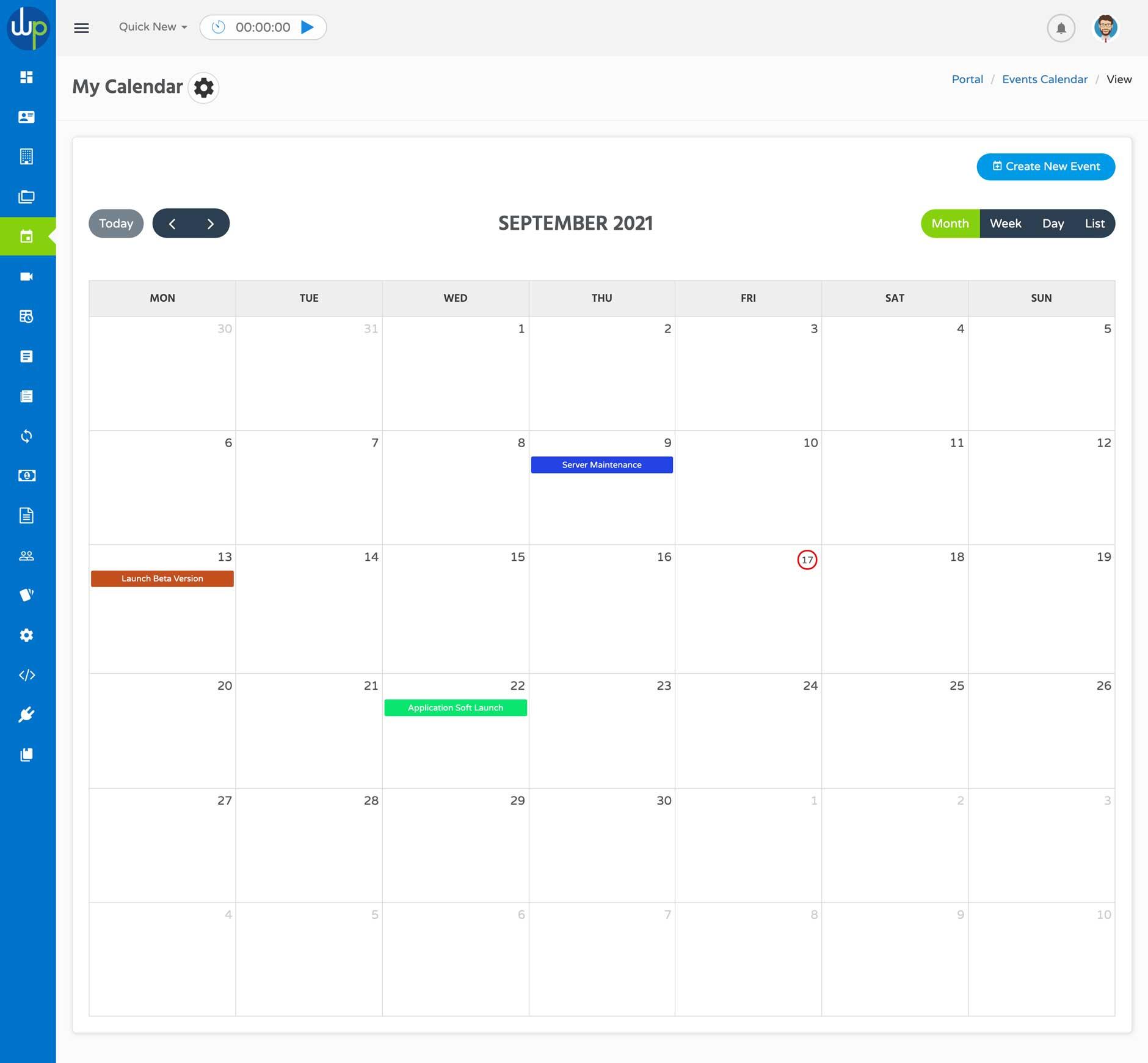 WPPortal Project Calendar