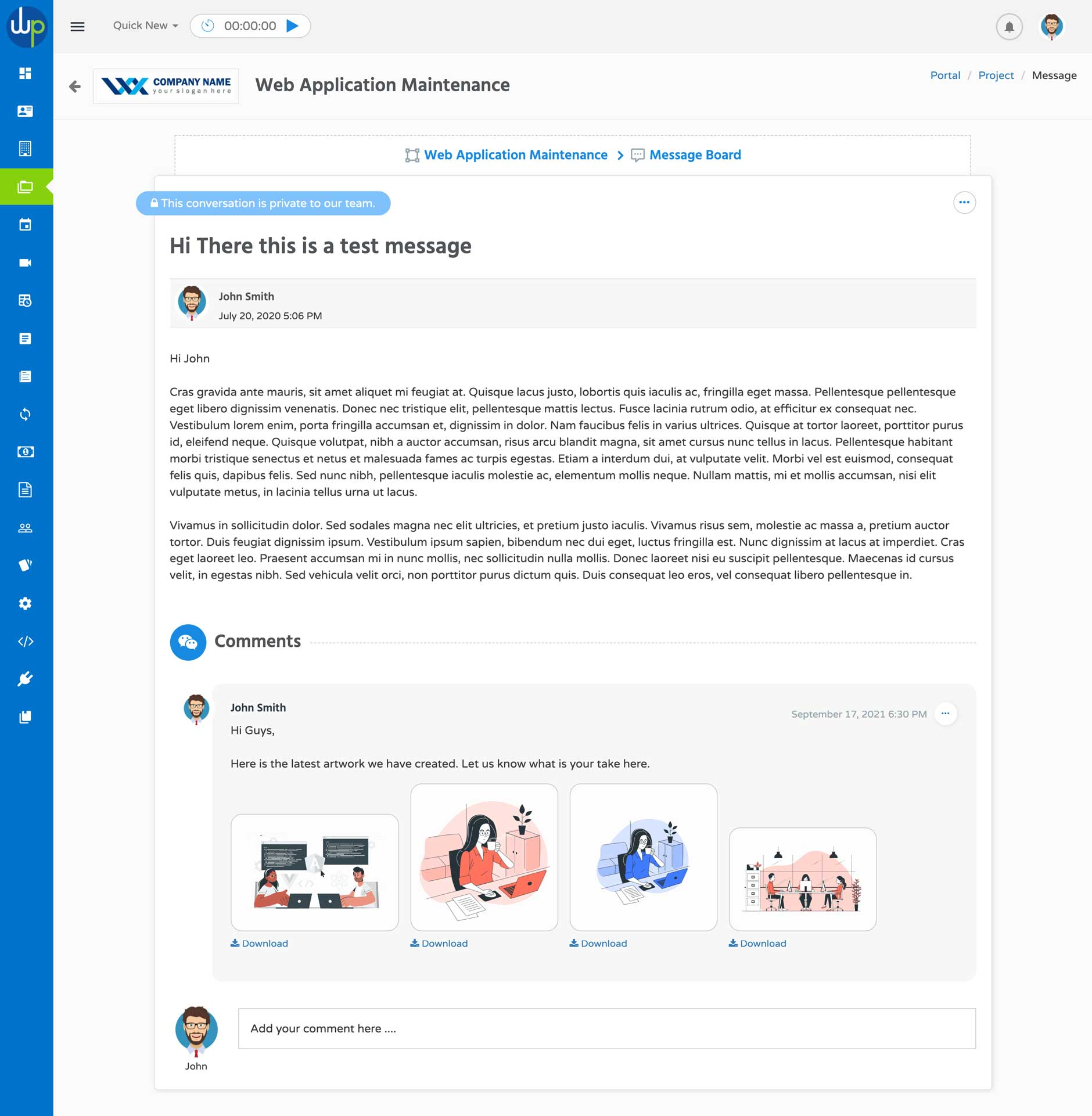 WP Portal Messages